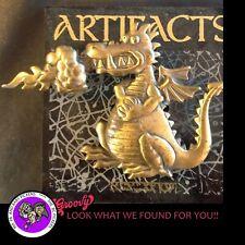 """JJ"" Jonette Jewelry Bronze Pewter 'Dragon Breathing Fire' Pin Free Shipping"