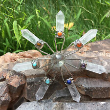 "4.3"" Clear Quartz Crystal Chakra Reiki Healing Energy Transmitter 1pc 50-60g"