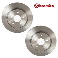 Pair Set of 2 Rear Solid Disc Brake Rotors 271 mm 5 Lugs Brembo For Ford Focus
