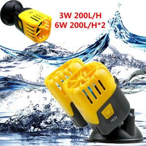 Powerhead Fish Tank Pump Wave Maker 60GPH DUAL HEAD Aquarium Salt/Fresh  UK