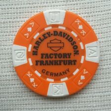 "1 ORIGINALE HARLEY DAVIDSON Fiches da Poker ""Factory FRANKFURT GERMANY"""