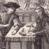 Gravure XVIIIe Louis XI Ligue du Bien Public Seigneurs Féodaux