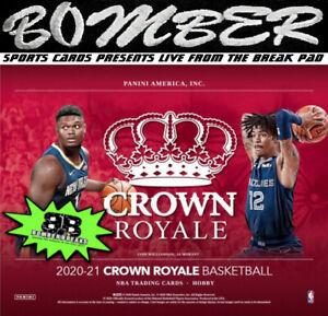 Golden State Warriors 2020-21 Panini Crown Royale Basketball 8-Box Break 5