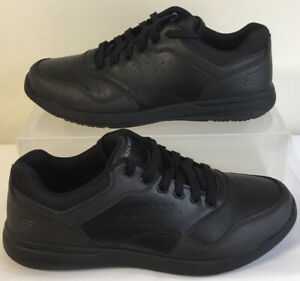 SKECHERS MEN'S ELENT VELAGO LEATHER RELAXED FIT TRAINERS SIZE UK 9 EUR 43