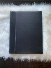 COACH Black LEATHER PADFOLIO Office Supplies Notepad Business Organizer