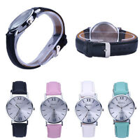 New Fashion Women Geneva Roman Watch Lady Leather Band Analog Quartz Wrist Watch