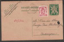 Belgium 1946 post card Antwerpen to Vern Des Stein