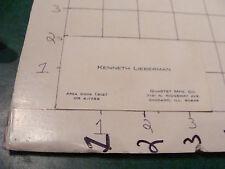 vintage paper -  business card - KENNETH LIEBERMAN quartet mfg co. Chicago