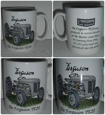 BN-grau Ferguson TE20 Vintage Traktor Becher, Steinzeug Becher, Becher