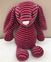 Jellycat Special Edition Heidi Bashful Bunny Rabbit Soft Toy Striped Pink Brown