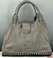 NWT Handbag GUESS SATCHEL Rebel Stud Ladies Taupe Bag