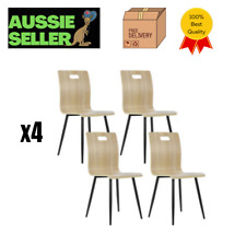 Artiss Dining Chairs Bentwood Seater Metal Legs Wooden Chair Cafe Kitchen X4