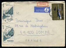 Pologne - Enveloppe en Exprès de Chojnice pour la France en 1979 - réf AT 152