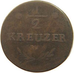 GERMAN STATES 1/2 KREUZER 1813 WURZBURG #c28 2363
