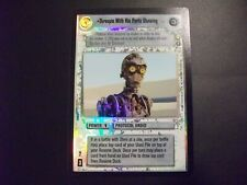 Star Wars CCG Reflections III 3 Ultra Rare Foil Threepio With His Parts Showing