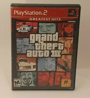 Grand Theft Auto III 3 Greatest Hits Game and Case PS2 Sony Playstation 2