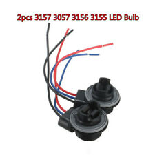 2 x 3157 3057 3156 3155 LED Bulb Brake Signal Light Socket Harness Wire Adapter