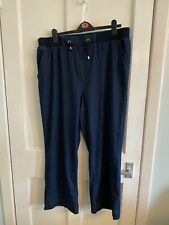 Ladies New Navy Casual Trousers Size 22