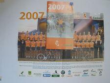 LIVRET PRESENTATION  + POSTER EQUIPE CYCLISTE EUSKATEL EUSKADI 2007