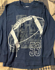 Youth Small Urban Pipeline Navy Blue Football Long Sleeve Shirt