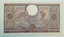 ===>> 1000 Francs 200 Belgas 01.02.1943  London Sontag Theunis  #F4# <<<====