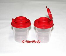 NEW Tupperware Midget Salt & Pepper Shakers with Red Top