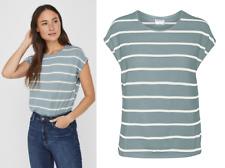 VERO MODA Shirt AVA Top Damen Stipes Motiv VMAVA T-Shirt MINTBLAU Gr. XS NEU VM