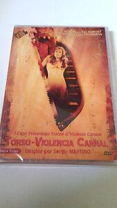 """DVD """"TORSO VIOLENCIA CARNAL"""" PRECINTADA SERGIO MARTINO SUZY KENDALL TINA AUMONT"""