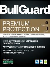 BullGuard Premium Protection 2021  1 Jahr 5 Geräte Standard  Upgrade  Android PC