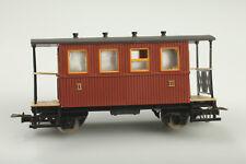 H0e Egger 2 Essieux Cars 2/3. Classe Marron Boue / Rayures avec Ovp