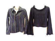 Bluse Street One + Pullover X Mail Gr. S 36 Schwarz 1 gestreift 1 Uni Rüschen