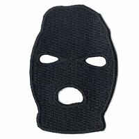 Ski Mask Black Or White Embroidered Applique Iron On Patch