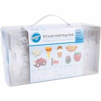 Wilton 10 Piece Candy Mold Mega Pack - Hearts, Fruit, Sports, cars etc