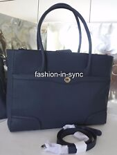 Oroton Melanie Work Tote Crossbody Shoulder Saffiano Navy Leather