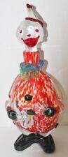 """VTG MURANO Glass CLOWN DECANTER w/Bottle Stopper - 14"""" - EUC"""