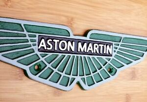 ASTON MARTIN Sign Large Repro Cast Iron Wall Plaque 32cm