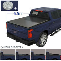 Soft 4 FOLD Truck Tonneau Cover 6.5ft Bed For 2002-2019 Dodge Ram 1500 2500 3500