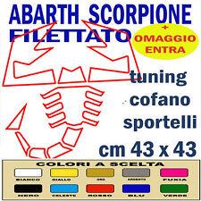 SCORPIONE ABARTH x COFANO e/o SPORTELLI ADESIVO PROFESS