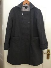 Authentique Gris designer MARC JACOBS laine manteau-Taille L