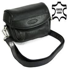 Neu Tasche für digitale Kamera Camcorder, UNOMAT SMARTline 120, Leder schwarz