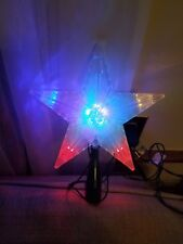 multicolored plastic Star tree topper Christmas excellent condition