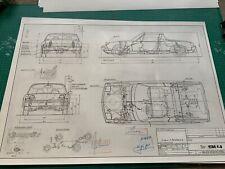 Limitierter ARTwork Vw Porsche 914 1969 Konstruktionszeichnung/ Blueprint.