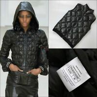 NEW Chanel 2017 Black Quilted Leather Sleeveless Puffer Vest Gilet Jacket S FR36