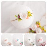 KQ_ Newborn Baby Flower Faux Pearl Headband Hair Band Strap Headwear Photo Props