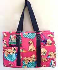 Multi Pocket Organizer Tote Bag Nurses Teachers Moms Love Them! Canvas Dogs