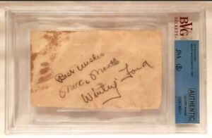 Mickey Mantle Whitey Ford Signed Miami Country Club Score Card Beckett BVG JSA