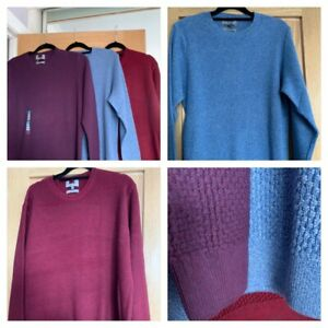 Mens MARKS AND SPENCER 100 % cotton jumper - 3 colours - sizes small - XXXXL
