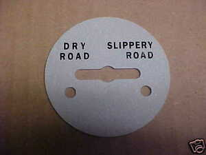 NOS Mack White Autocar Dry & Slippery Road Switch Plate for Vintage Trucks