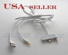 Audio input&Charge Cable for Select 2013 2014 Mazda to iPhone5 5S 5C white