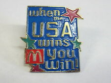 McDonald's When The USA Wins You Win Pin EX Condition